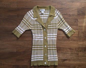 Vintage BCBG Maxazria short sleeve cardigan sz Small