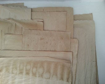 10 large sheets of coffee dyed papers for crafts | hand dyed papers | coffee stained papers | papers for art journals | collage papers