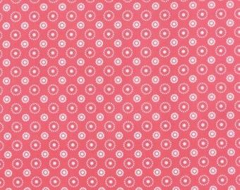 END Of BOLT ~~ 28 inches ~~ SALE Meadowbloom Azalea Moda Fabrics April Rosenthal Pink Dots