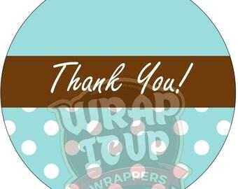 Thank You stickers, Thank you polka dot stickers, Thank you Monogram Stickers, Wedding thank you stickers. Thank you labels. Set 25.