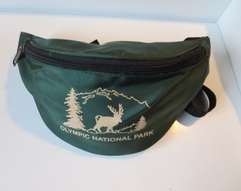 Olympic National Park Fanny Pack - Moose Waist Pack  - Green Bum Bag