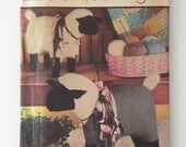 Simplicity Crafts 7418, Stuffed Sheep Pattern, Marjorie Puckett, Large and Small Sheep, Country Decor