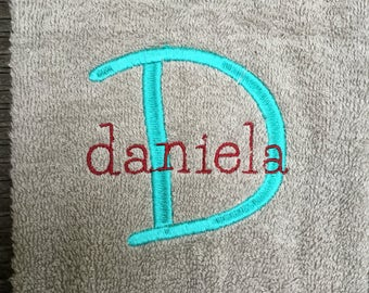 Personalized Initial Towel