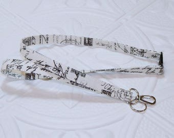 Lanyard - Breakaway Lanyard - Key Lanyard - Badge Holder - Script Writing
