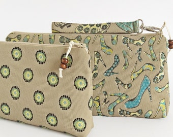 Clutch Wristlet Bridesmaids Proposal Gifts, Wedding Clutches Aqua, Cosmetics Bags Matron of Honor