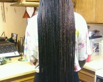 "Braids Down To There 40"" Individual Pre-Braided Braids 20 per pack/bundle"