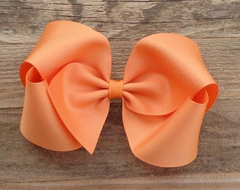 XL Boutique Hair Bow~Extra Large Hair Bows~BIG Hair Bows for Girls~Hair Accessories for Girls~Fall Hair Bows~Orange Hair Bow~BIG Hairbows