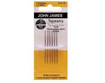 John James Cross Stitch Needle, Sizes Available