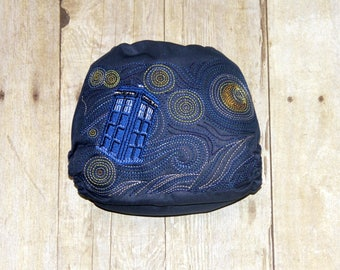 Starry Tardis One Size Pocket Cloth Diaper, Reusable Cloth Diaper, One Size Cloth Nappy, One Size Pocket Cloth Diaper, Cloth Diaper Cover