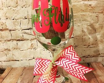 Personalized 30 Wine Glass - Turning 30 - Happy Birthday - Turning 30 Wine Glass - Thirty Wine Glass