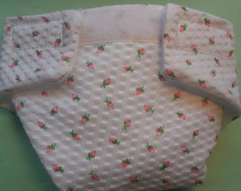 Ready to Ship SIZE #2 cloth Doll Diaper rosebuds washable fits bitty baby some baby alive all gone American Girl doll & stuffed animals