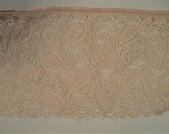 """Pink Blush Lace 5"""" wide x 6 Yards Long for Craft and Sewing Projects"""