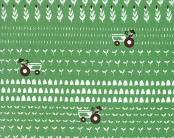 Farm Fun Working the Fields in Grass Green, Stacy Iest Hsu, 100% Cotton Fabric, Moda Fabrics, 20535 15