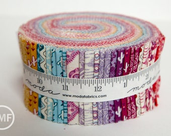 Spellbound Jelly Roll, Urban Chiks, Moda Fabrics, Pre-Cut Fabric Strips, 31110JR