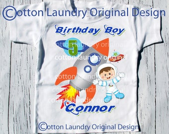 BIRTHDAY BOY Astronaut tee , graphic tee , Space theme, first birthday, second birthday, third birthday and beyond