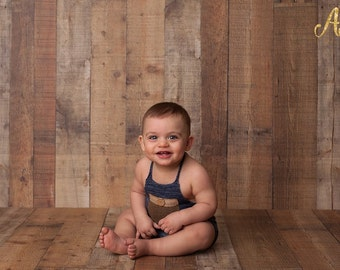 6-9 Months Blue Halter Short Overalls 6-9 months Boys' Clothing Kids Photography Props Sitters Overalls Sitters Props Baby Outfits