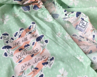 Mint Floral Changing Pad Cover / Floral Fitted Sheets, Floral Baby Bedding, Mint Green Nursery, Mint Baby Bedding