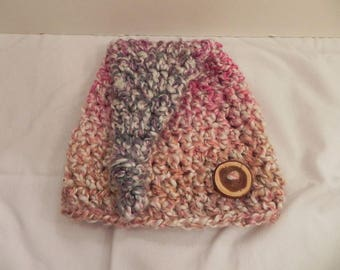 "15"" MULTICOLOR Top Knot Hat 3 Month Size RTS"