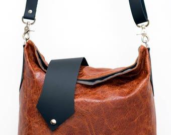 SALE Brown leather tote bag, leather handbag, leather purse, large leather bag, minimalist bag, fashion tote bag, handmade ecofriendly bag