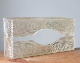 Vintage Celebrity Inc Rectangle Starburst Lucite Tissue Holder | Box Cover