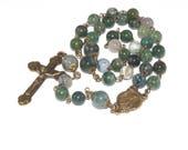 3 Decade Rosary Prayer Beads, Sacred Heart Center, Catholic Man's Rosary