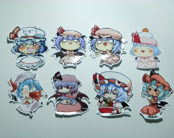 Touhou Project Art Collection Stickers 16Pcs. Remilia Free Shipping
