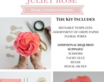 Paper Flower Kit: Juliet Rose