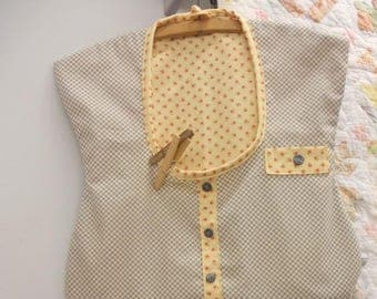 Grandma's House Coat, a clothespin bag, kit and pattern...designed and pieced by Mickey Zimmer