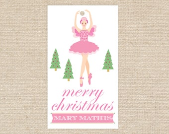 Digital Sugar Plum Fairy Gift Tags