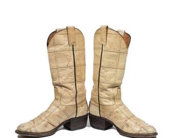 40% off SALE 8 | Men's Vintage Cowboy Boots Renegade Patchwork Leather Western Boot