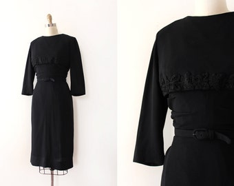 CLEARANCE vintage 1940s Jack Stern dress // 40s 50s black evening dress