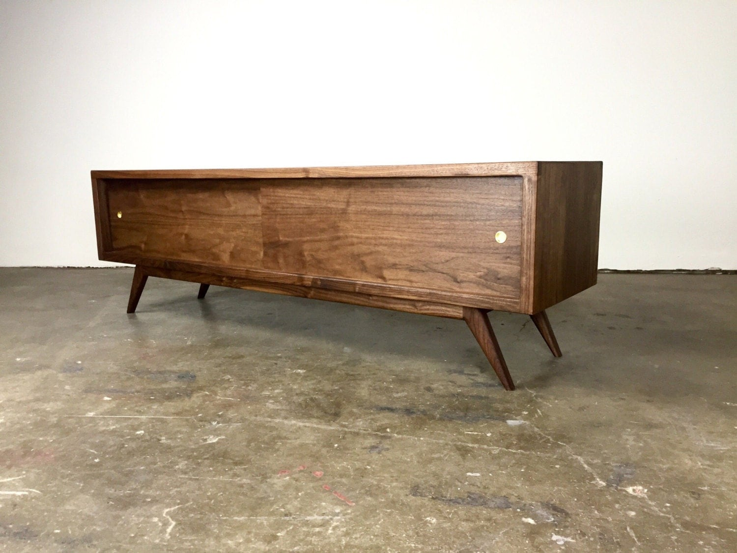 the g2 a mid century modern tv console credenza. Black Bedroom Furniture Sets. Home Design Ideas