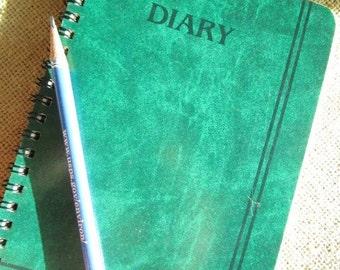 Diary by Eaton, Spiral Bound, Vintage Ephemera, Journal or Notebook