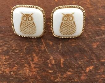 Vintage  owl cufflink Denmark