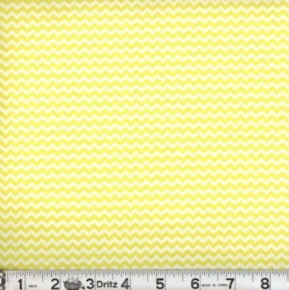 "Mini chevron fabric,Yellow chevron fabric,Small chevron,100% cotton,Quilt fabric,Apparel fabric,Craft,END OF BOLT 1/2 Yard by 44"" Wide"