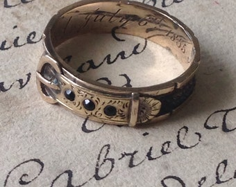 Antique Mourning Buckle Ring