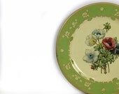 Baret ware tin litho/decorative plate/tin wall plate/made in england/anemones flora design