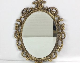 Hollywood regency wall mirror Syroco wall mirror vintage gilt wall mirror