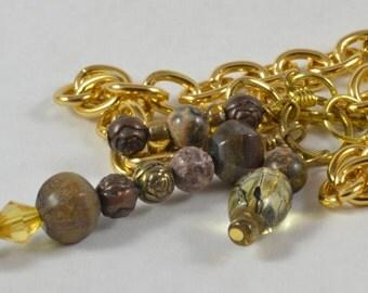 Multi-drops Necklace in Gold Tone