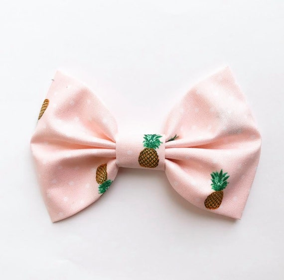 NEW SPRING XL Bow Tie Headband or Clip Pink Pineapple - XLarge Bow Tie Headband - girl, baby, toddler, woman, bow, jewel tones