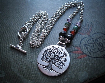 Tree of Life Necklace in Silver. Yggdrasil Pendant