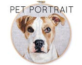 JUNE 2017 Shipment - Custom Pet Portrait Wool Painting Hoop - Choose Size