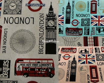 London landmark, 1/2 yard, pure cotton fabric