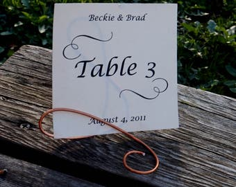 Rustic Table Decorations, Copper Table Sign Stands, 10pcs