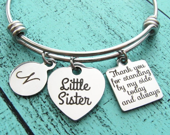 Wedding Gifts For Sisters: Wedding Gift For Sister Lil Little Sister Of Bride Gift