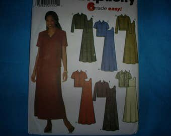 Simplicity 9861 Miss Size 8-14 Dress and Jacket.