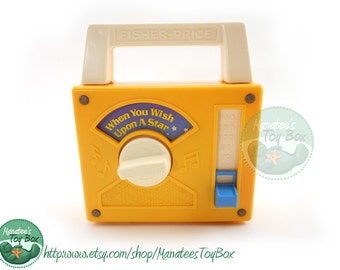 Fisher Price Music Box Radio: When You Wish Upon a Star Vintage 80s