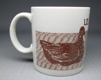 Taylor and Ng coffee mug LE CANARD duck , brown , 1979