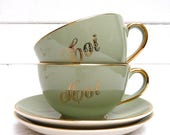 ON SALE for a week Villeroy and Boch French Vintage Duo French Vintage Breakfast - France - Toi & Moi - Just Two of Us
