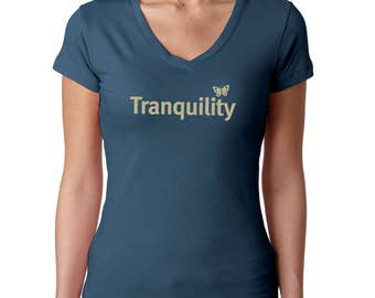 Yoga t shirt / tshirts with sayings / Mother's Day tee / Women's t-shirt / Mother's Day gift / Gifts for Her / Gift for Mom / Tranquility